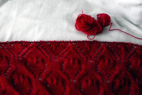 lace malabrigo shawl interweave
