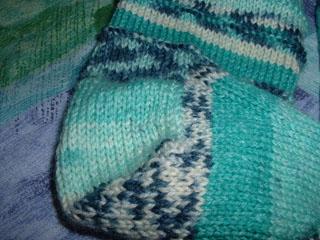 heel green sock