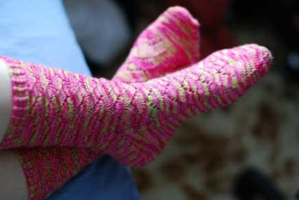 Monkey Socks Finished