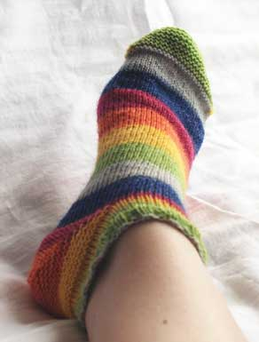 toeup sock opal