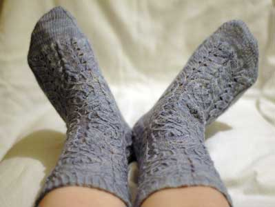 Twisted Flower Socks by Cookie A Finished Object